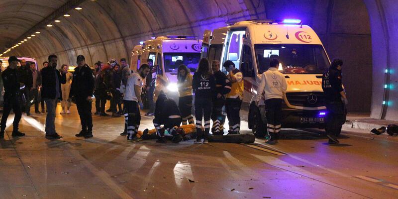 Dolmabahçe Tüneli'nde kaza:1 ölü