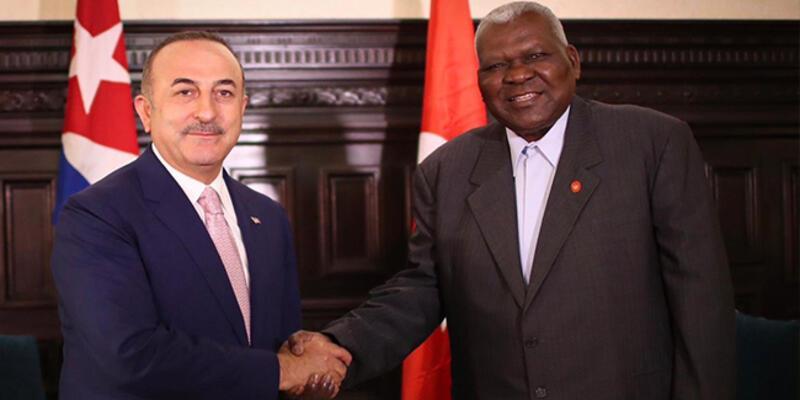 Çavuşoğlu, Küba Dışişleri Bakanı Parrilla ile görüştü