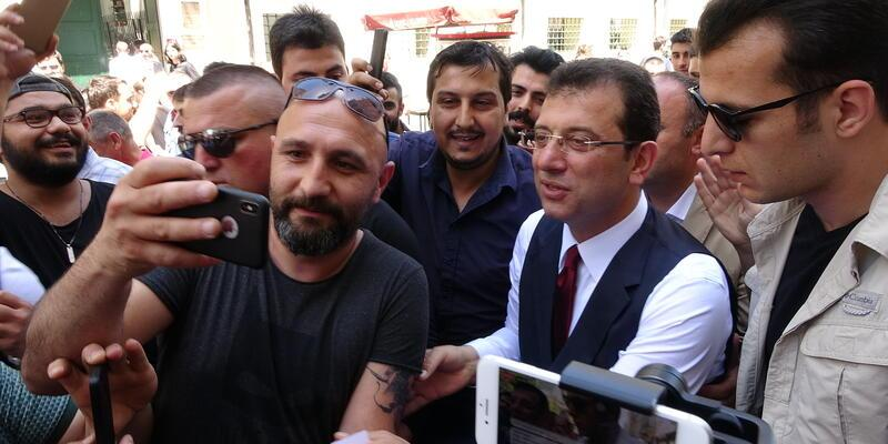 İmamoğlu Taksim'de gezdi