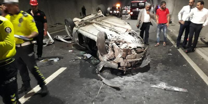 Malatya'da feci kaza! Geriye bu görüntüler kaldı