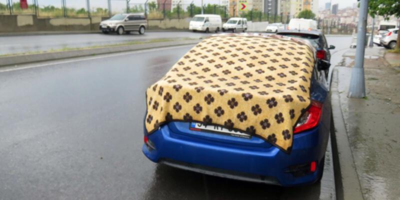 Maltepe'de battaniyeli dolu önlemi