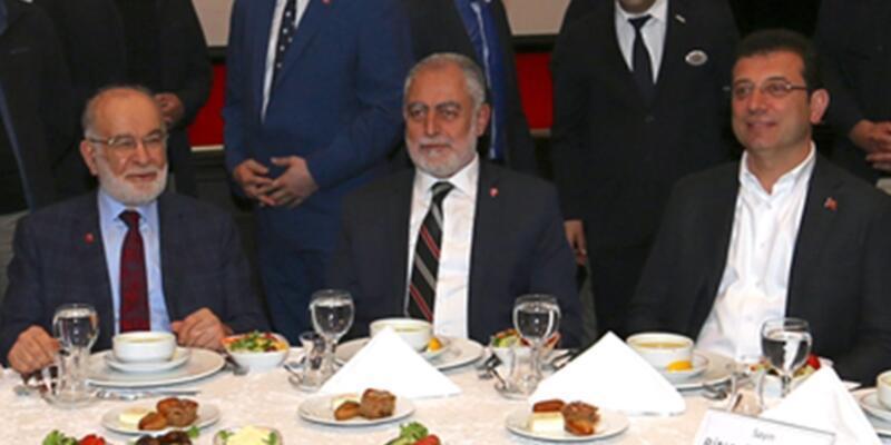 İmamoğlu, Saadet Partisi'nin iftarına katıldı