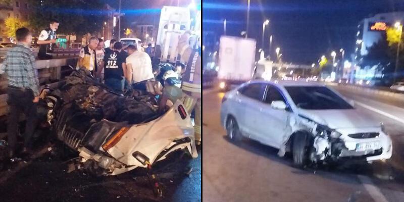Avcılar'da feci kaza, kamyonetin sürücüsü öldü
