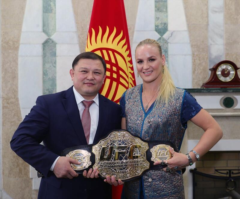 Valentina Shevchenko'ya görkemli karşılama
