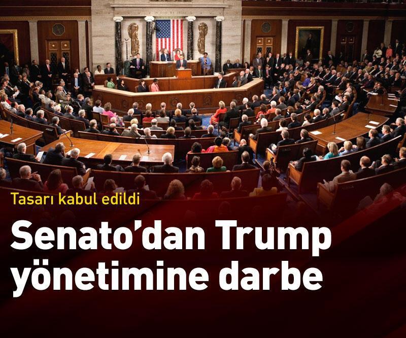 Son dakika: Senato'dan Trump yönetimine darbe