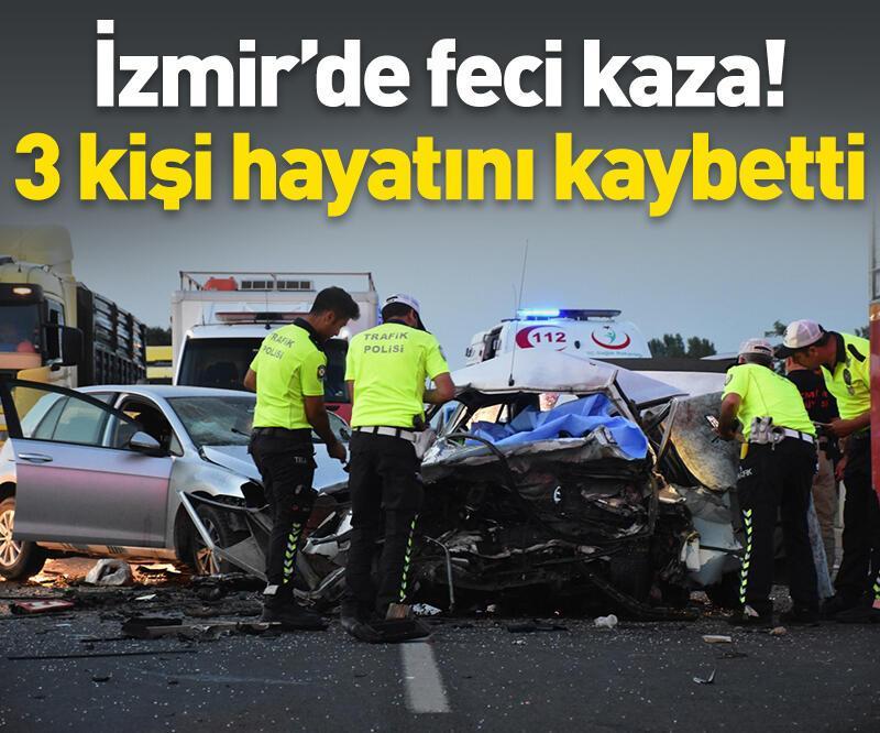 Son dakika: İzmir'de feci kaza: 3 ölü, 1 yaralı