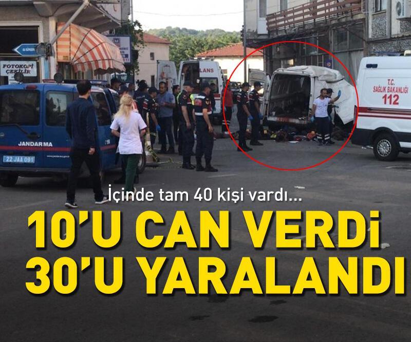 Son dakika: Edirne'de göçmenleri taşıyan araç kaza yaptı! Çok sayıda ölü var