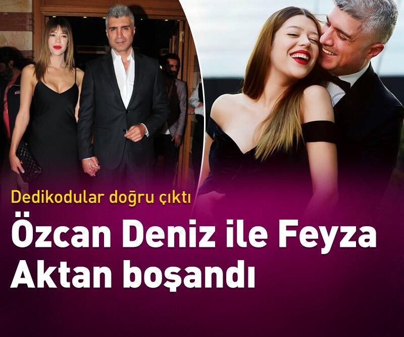 Son dakika: Özcan Deniz ile Feyza Aktan tek celsede boşandı