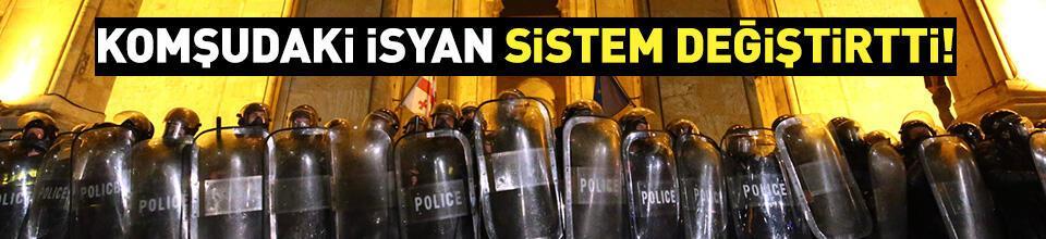 Gürcistan'da protestolar sistem değiştirtti